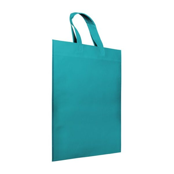 Bolsas de tela asa corta azul turquesa