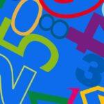 Papel de regalo infantil con números azul oscura 075211100