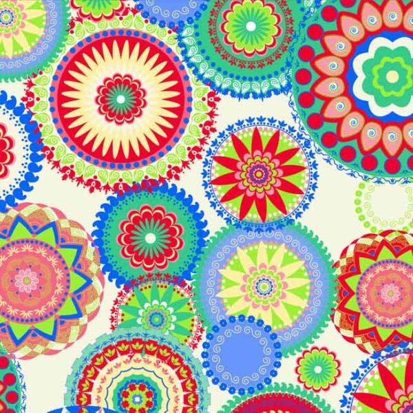 papel de regalo con dibujos de mandalas de colores 112209100