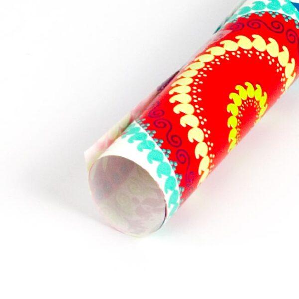 papel de regalo con dibujos de mandalas de colores 112209100-b