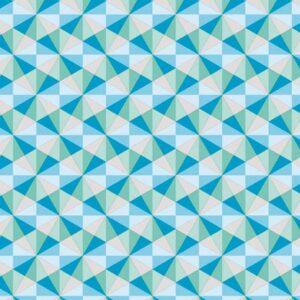 papel de regalo con dibujos de triángulos azules 132915100
