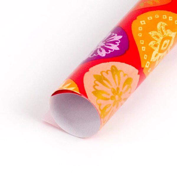 papel de regalo con dibujo de flores Indú 146903 b
