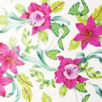 papel de regalo dibujo clásico hojas y flores blanco 150909100