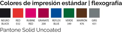 colores estándar impresión flexografía 2020