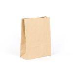 Bolsa de papel sin asas tipo americana 25x10x32 kraft marrón reciclado