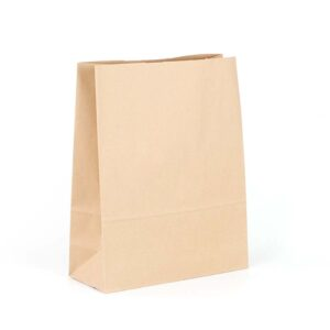 Bolsa de papel sin asas grande tipo americana