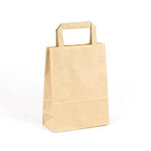 Bolsa de papel pequeñas asa plana 18x8x24 kraft