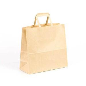 Bolsa de papel pequeñas asa plana 24x10x23 kraft