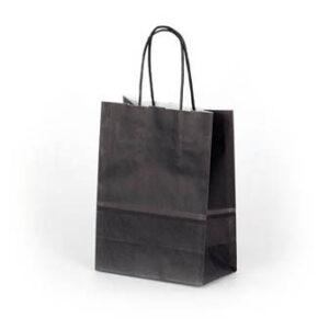 Bolsa de papel pequeña 15x8x20 negra