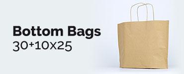 Bolsa de papel pequeña bottom bags 30+10x25 h3