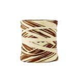 Rafia sintética bicolor beige chocolate 2