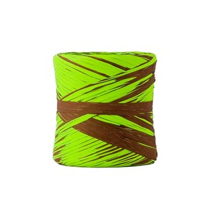 Rafia sintética bicolor pistacho chocolate 2