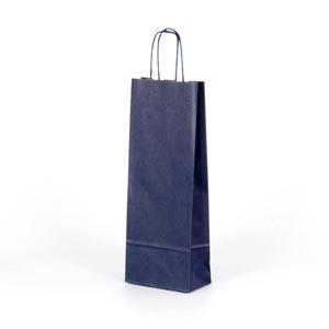 bolsa para 1 botella 75cl azul 15x8x39