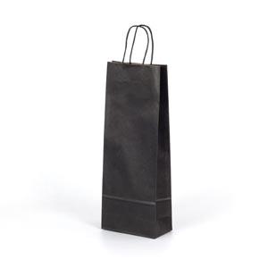 bolsa para 1 botella 75cl negra 15x8x39