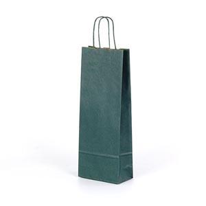 bolsa para 1 botella 75cl verde 15x8x39
