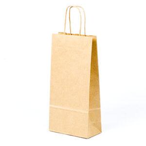 Bolsa de papel kraft básica 15x8x31 para botellas pequeñas