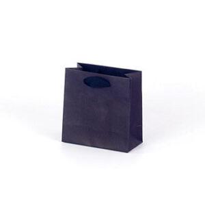 Bolsa lujo pequeña asa cinta 14x7x14 negra