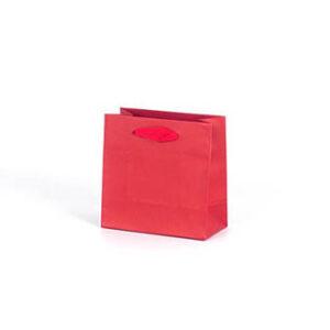 Bolsa lujo pequeña asa cinta 14x7x14 roja