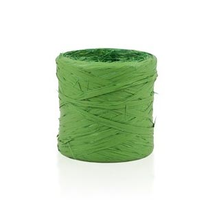 Rafia sintética verde musgo