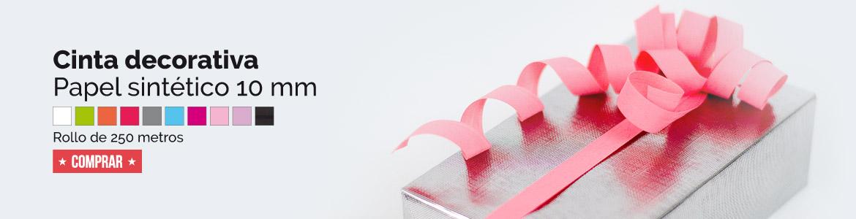 banner cinta papel sintético 10 mm colores