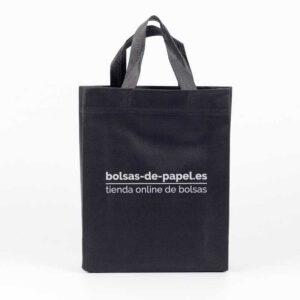 bolsas de no tejido personalizadas con asa cinta y fuelle completo