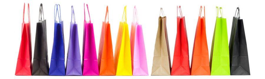 bolsas de papel de colores