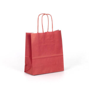 Bolsa papel asa rizada 18x8x20 Ruby rijas oscura