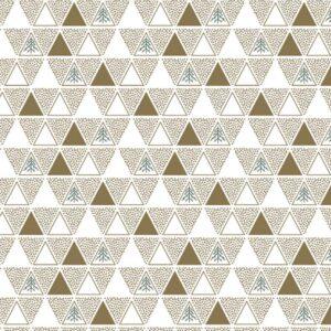 Papel de regalo navideño con diseño de triángulos oro 29942