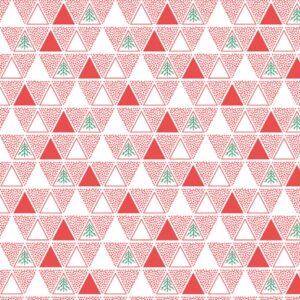 Papel de regalo navideño con diseño de triángulos rojo 29903