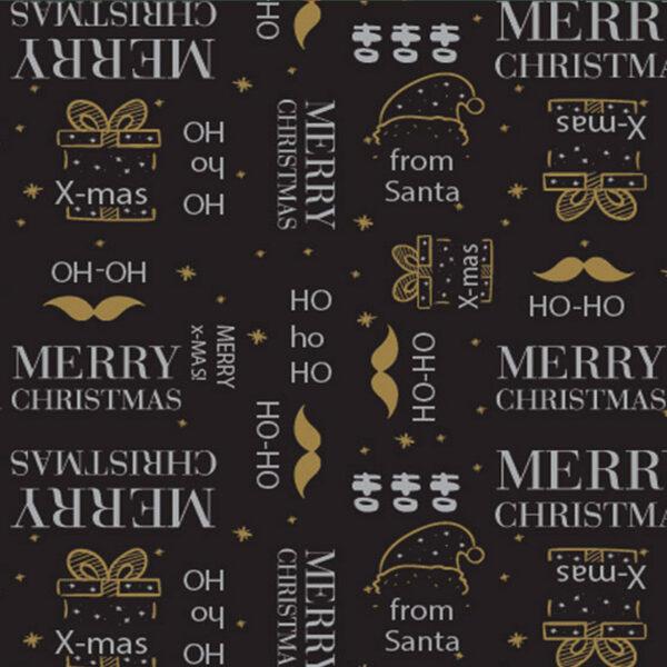 Papel de regalo navideño con tipografías 251908