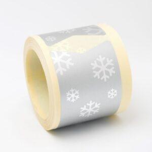 Adhesivos navidad plata copos de nieve
