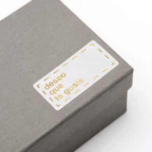 Etiqueta rectangular adhesiva deseo que te guste