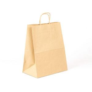Bolsa Kraft take away 26x15x32 avana reciclado